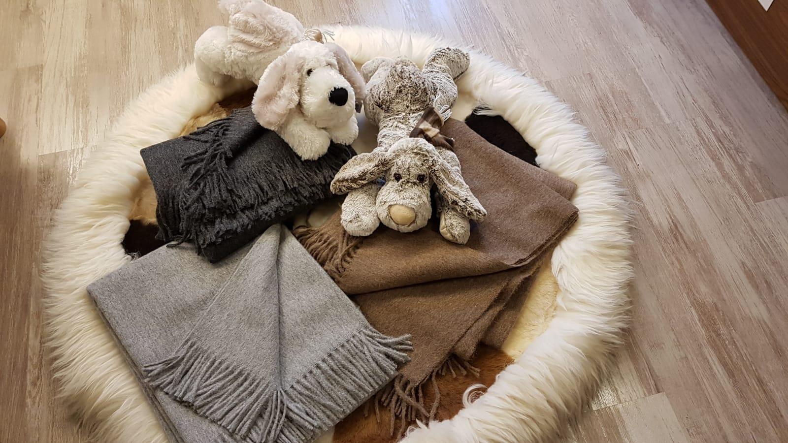 Decken aus Alpakawolle